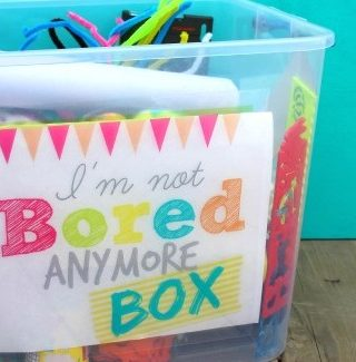 I'm not bored anymore box
