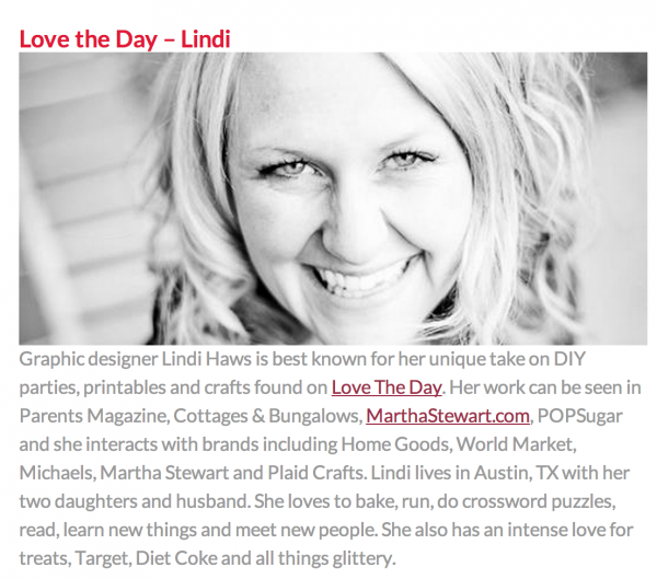 Lindi Haws of Love The Day
