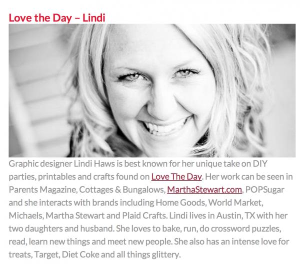Lindi Haws of Love The Day