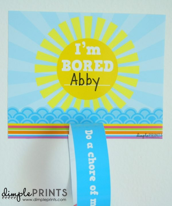 Summer Im Bored Paper Chain Printable by DimplePrints-2