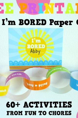 """Mom, I'm BORED Paper Chain"" Free Printable!"