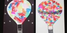 Watercolor-Style-Hot-Air-Balloon-Art-with-Bleeding-Tissue-Paper