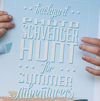 Backyard Photo Scavenger Hunt with Free Printables