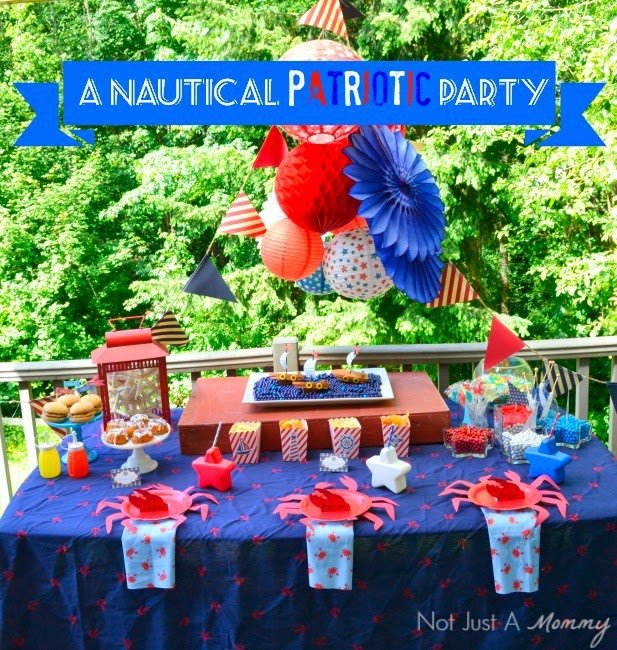 Nautical Patriotic Party for the 4th of July! Fabulous DIY decor and delicious treats!