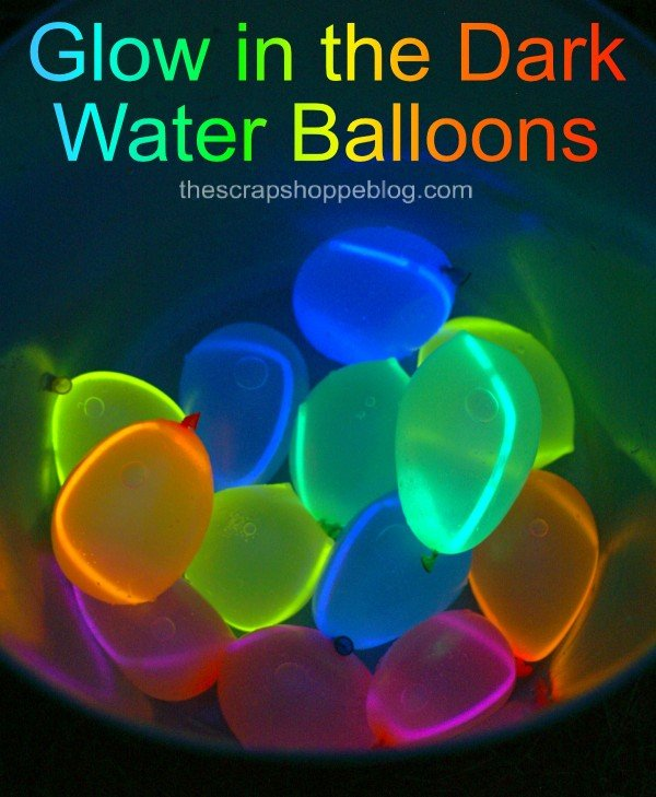 DIY Glow in the dark water balloons! Easy to make and super fun for kids this summer!