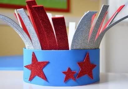 Fantastic 4th of July Hat! 4th of July crafts for kids!!
