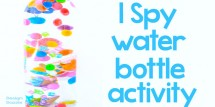 I spy water bottle activity - Design Dazzle