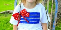 No-sew 4th of July T-shirt
