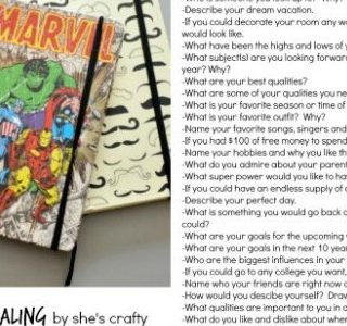 Summer Journaling and writing prompts