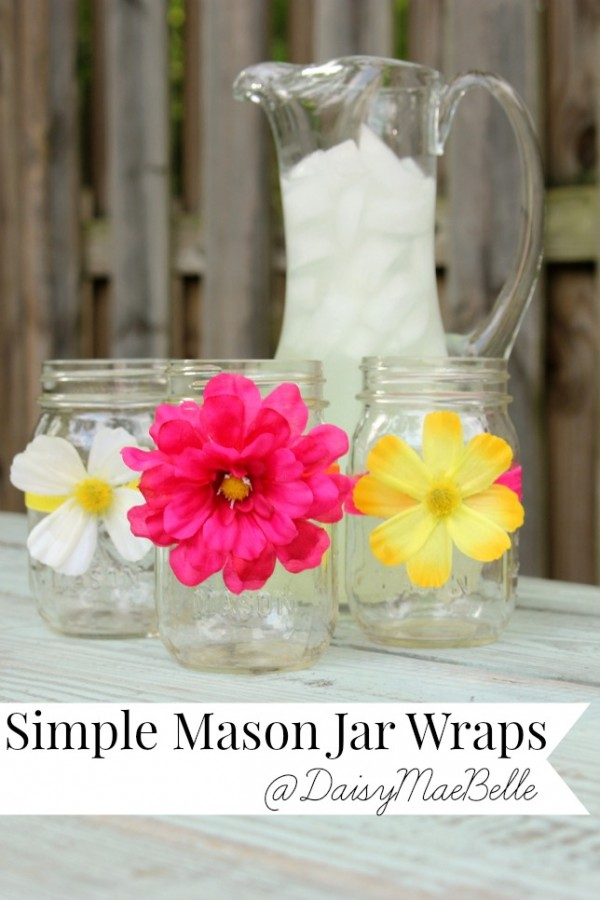 mason jar flower wraps