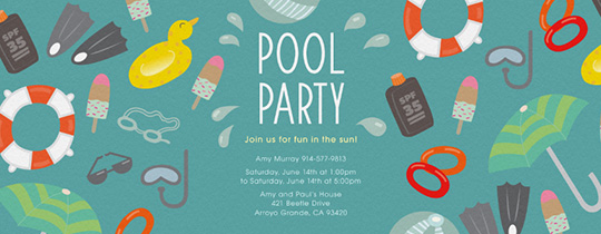 Pool Party Invitation from Evite