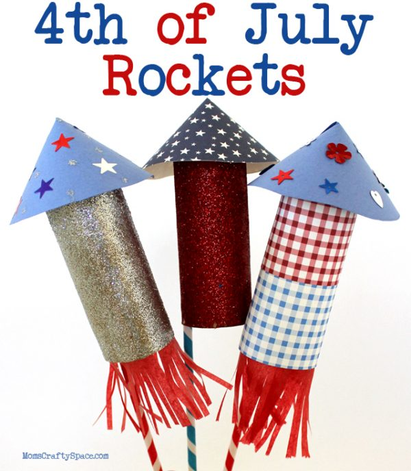 4th of July crafts for kids! Rockets!! Kids will love these!