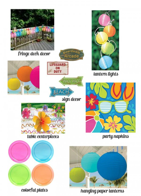 Summer Party decor ideas from Celebrate Express