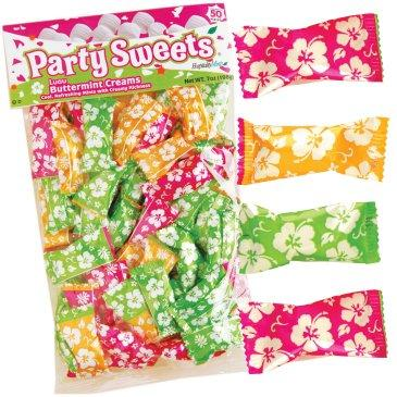 Colorful summer party mints from Celebrate Express
