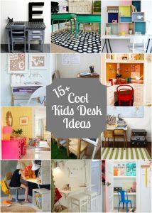 15+ Cool Kids Desk Ideas with lots of DIY Ideas!