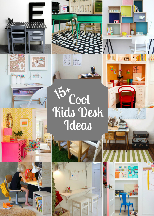 15 kids desks design dazzle - Awesome small workspace designs for you to work conveniently ...