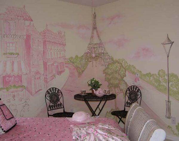 murals for girls rooms design dazzle wall mural paris wallsorts