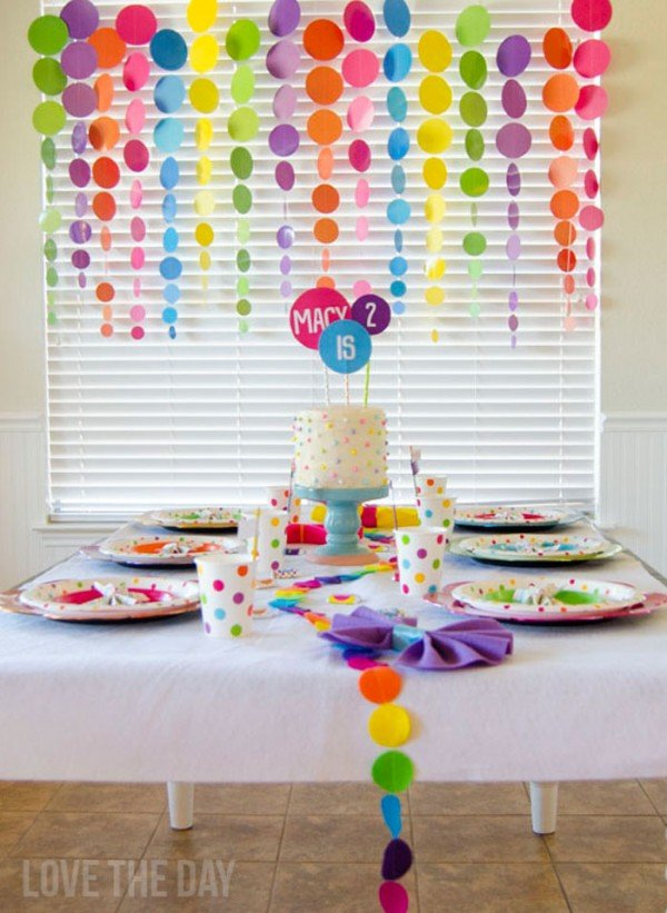 polka dot birthday party design dazzle