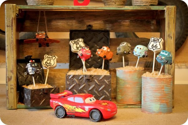 radiator springs cake pops