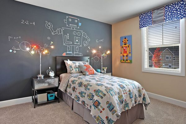 Cool Murals For Boys Rooms Robot Mural Featured On Design Dazzle