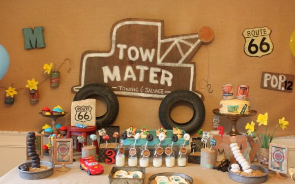 radiator springs food table