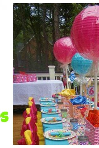 Giant Lollipop Centerpieces