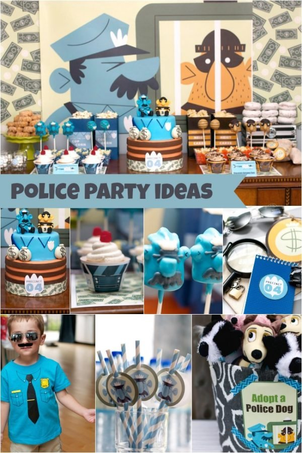 Cops and Robbers Themed Birthday Party