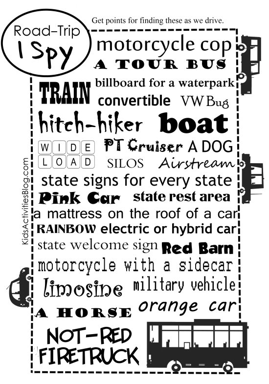 Road Trip Games And Printables Design Dazzle