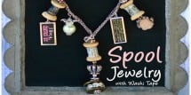 spool jewelry with washi tape - Design Dazzle