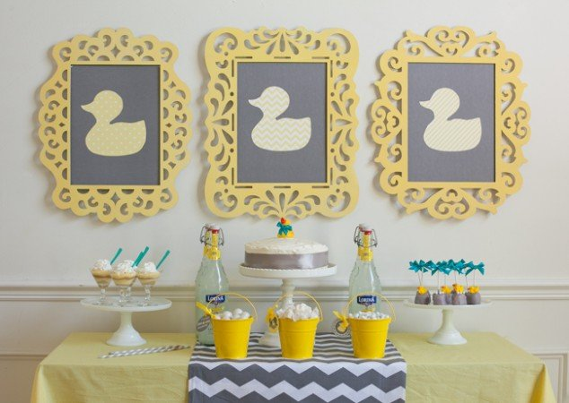 Attractive Modern Duck Themed Gender Neutral Baby Shower