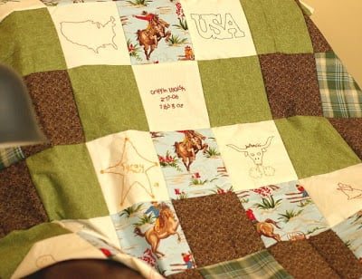 Make a quilt for the baby for your baby shower activity