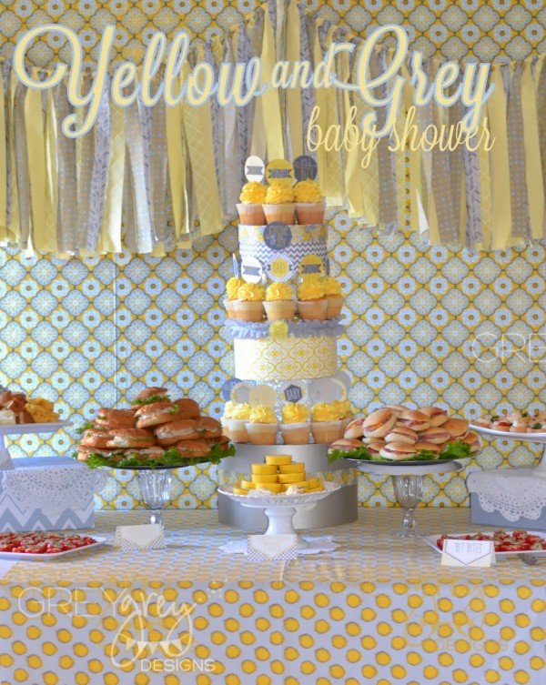 Yellow And Grey   Perfect Colors For A Gender Neutral Baby Shower
