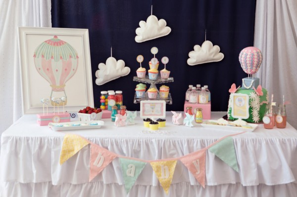 Cute Hot Air Balloon Baby Shower
