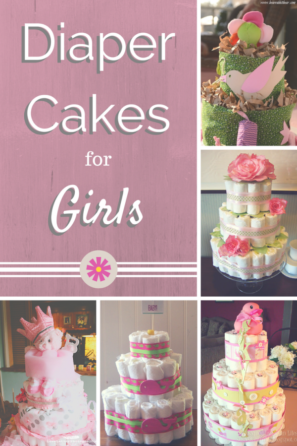 Cute Diaper Cakes For Girls
