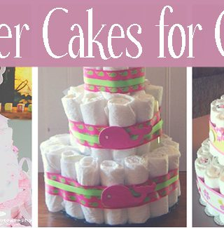 diaper cakes for girls featured image