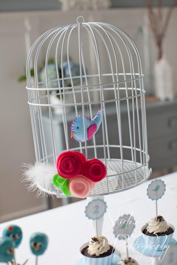 Bird Cage decoration for Little Birdie Birthday Party Featured on Design Dazzle