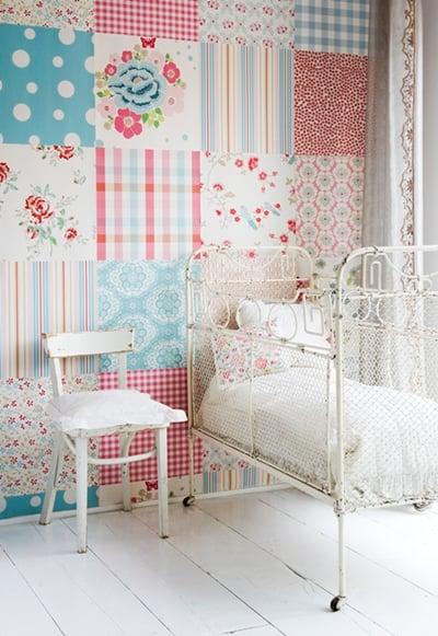 Beautiful wallpaper for a nursery wall
