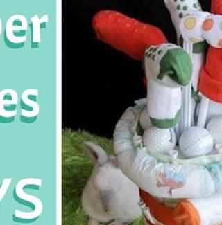 Fun Diaper Cakes for Boys