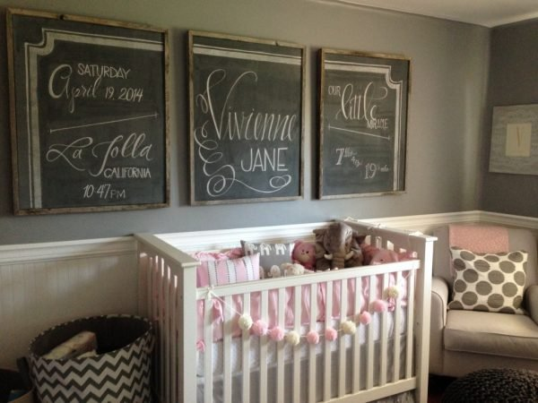 Create your own chalkboard frames do decorate your nursery walls