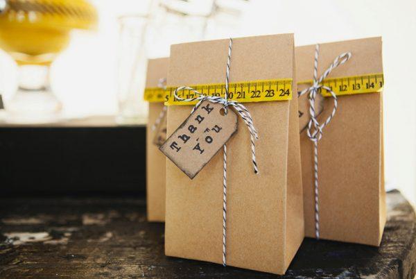 Simple Construction Party Favor Bags