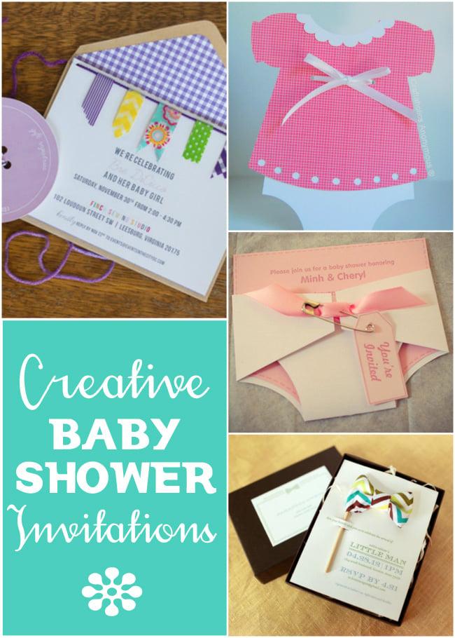 creative baby shower invitations design dazzle