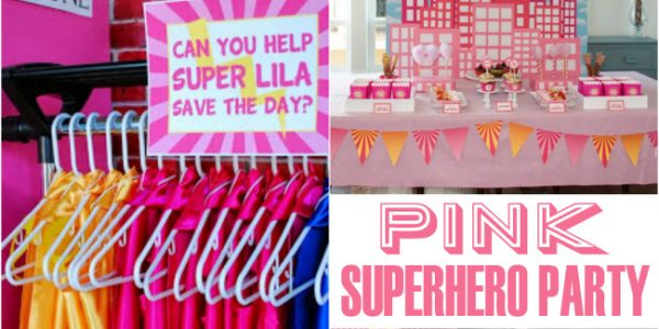 darling pink superhero party featured image