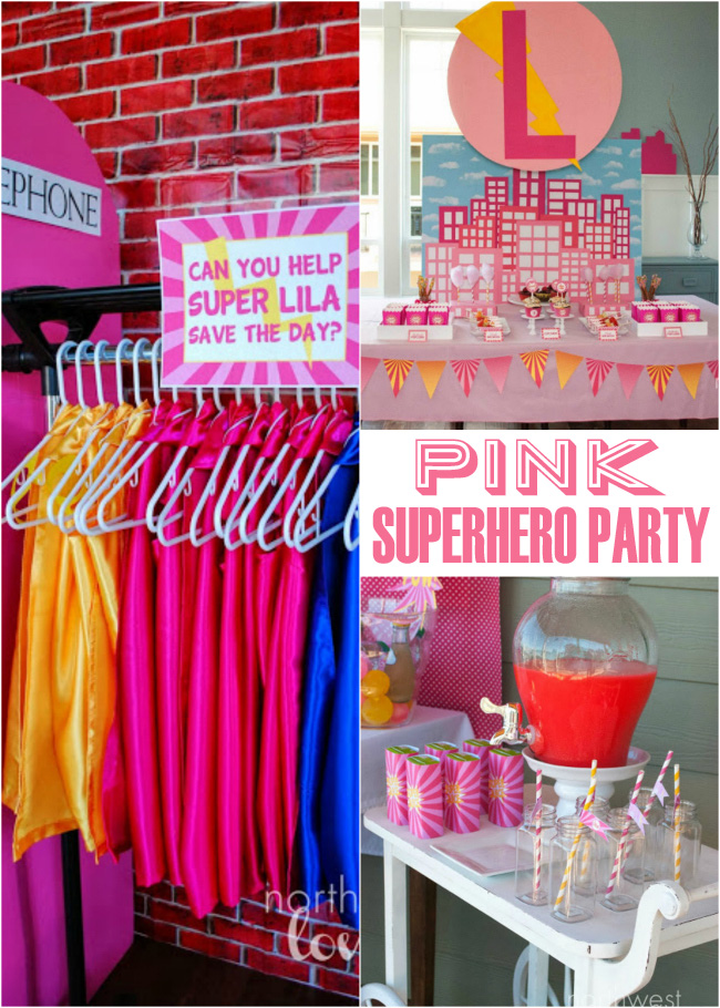 Darling Superhero Party for Girls featured on Design Dazzle