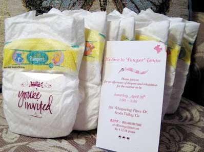 Creative baby shower invitations design dazzle mailed diaper baby shower invitations filmwisefo
