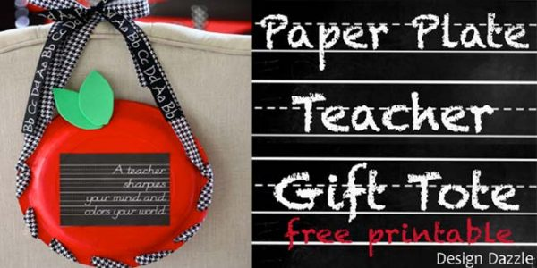 Paper Plate Apple Gift Tote For Teachers! Design Dazzle