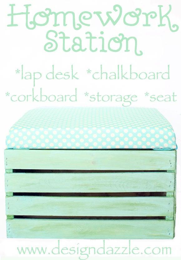 DIY portable homework station - Design Dazzle