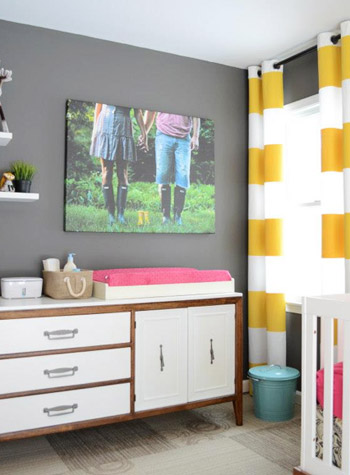 Large canvas art for baby's nursery wall