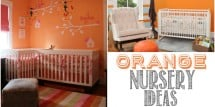 orange nursery ideas