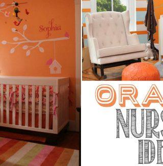 Colorful Orange Nursery Ideas