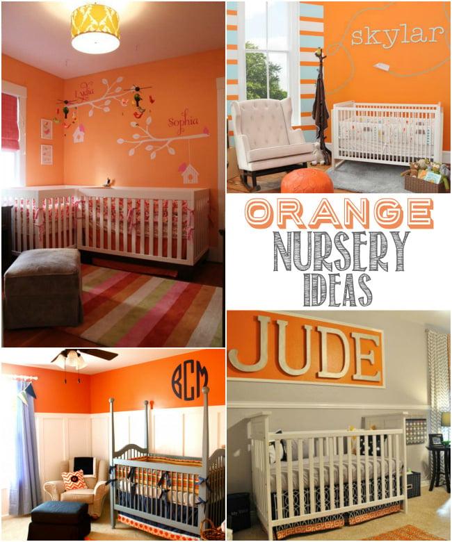 Colorful Nursery: Colorful Orange Nursery Ideas
